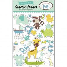 Набор эмалевых стикеров Sweet Baby Boy Enamel Shapes