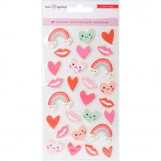 """Набор объемных стикеров Main Squeeze Puffy Stickers 3.75""""X8"""" 27/Pkg от Crate Paper"""