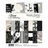 """Набор бумаги с золотым фольгированием Always & Forever Simple Stories  6""""X8"""""""