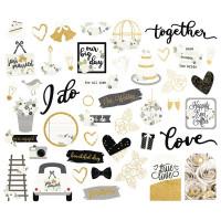 Набор высечек с золотым фольгированием Always & Forever  от Simple Stories