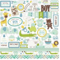 "Наклейки Sweet Baby Boy Cardstock Stickers 12""X12"" Echo Park"