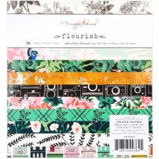 """Набор бумаги Maggie Holmes Flourish  6""""X6"""" от Crate Paper"""