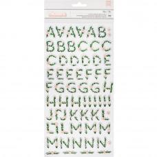 """Набор объемных стикеров алфавит Crate Paper """"Flourish"""", 15*30 см"""