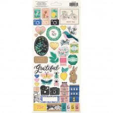 "Набор стикеров Maggie Holmes Flourish Cardstock Stickers 6""X12"" 2/Pkg от Crate Paper"