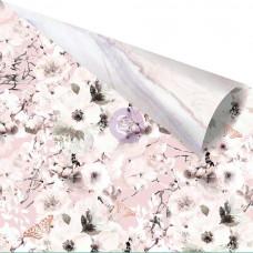 УЦЕНКА!Лист бумаги с золотым фольгированием Cherry Blossom Garden от Prima Marketing