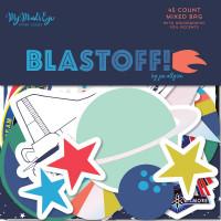 Набор высечек Blastoff Mixed Bag Cardstock Die-Cuts 45/Pkg от My Minds Eye