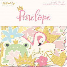 Набор высечек Penelope Mixed Bag Cardstock Die-Cuts 56/Pkg W/Gold Accents  от My Minds Eye