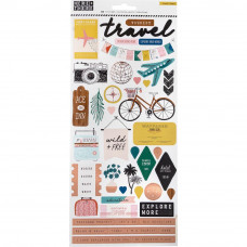 "Наклейки Here & There Cardstock Stickers 6""X12"" 2/Pkg от Crate Paper"