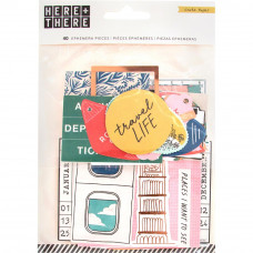 Набор высечек Here & There Ephemera Cardstock Die-Cuts 40/Pkg от  Crate Paper