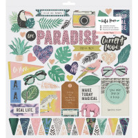 "Чипборд Wild Heart Chipboard Stickers 12""X12"" от Crate Paper"