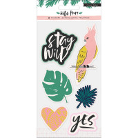 Пуфф стикеры Wild Heart Embossed Puffy Stickers от Crate Paper