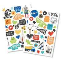 "Стикеры Lil' Dude Puffy Stickers 4""X6"" 2/Pkg от Simple Stories"