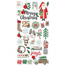 "Набор чипборда Merry & Bright Chipboard Stickers 6""X12"" от Simple Stories"
