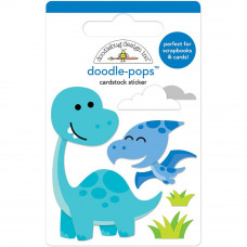 "3d стикер ""Doodle-Pops 3D Stickers Dino-Mite от Doodlebug"
