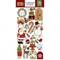 """Набор чипборда Celebrate Christmas Chipboard 6""""X13"""" от  Echo Park Paper"""
