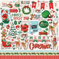 """Набор наклеек Santa's Workshop Cardstock Stickers 12""""X12 от Carta Bella"""