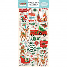 "Набор чипборда Santa's Workshop Chipboard 6""X13"" от  Carta Bella"