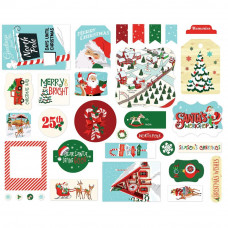 Набор высечек Santa's Workshop Ephemera Cardstock Die-Cuts 33/Pkg от  Carta Bella