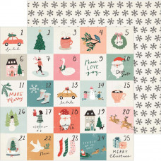 Лист бумаги Stockings Merry Days от Crate Paper