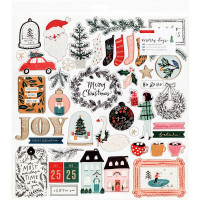 Набор чипборда Merry Days Chipboard Stickers 46/Pkg от Crate Paper