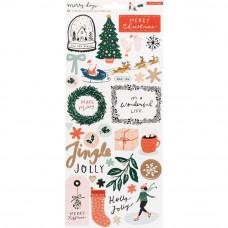 Наклейки Merry Days Cardstock Stickers 82/Pkg от Crate Paper