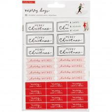 Наклейки фразы Merry Days Waterfall Stickers 89/Pkg от Crate Paper