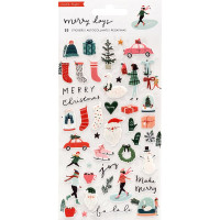 Набор наклеек Puffy Merry Days Stickers 50/Pkg от Crate Paper