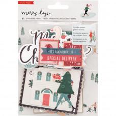 Набор высечек Merry Days Ephemera Cardstock Die-Cuts 40/Pkg от Crate Paper