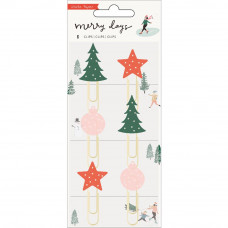 Набор скрепок Merry Days Decorative Clips 6/Pkg от  Crate Paper