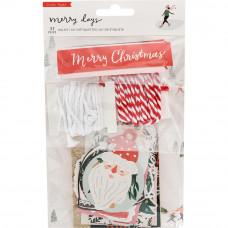 Набор тегов Merry Days Tag Kit 37/Pkg от Crate Paper