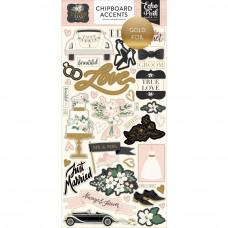 """Набор чипборда Wedding Day Chipboard 6""""X13"""" от Echo Park Paper"""