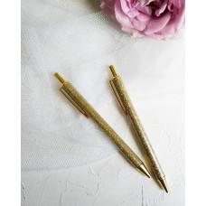 """Ручка """"Золото с глиттером"""""""