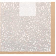 Калька для скрапбукинга с фольгированием «Серебряная роса» , 30,5 х 30,5 см