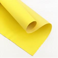Отрез кожзама, 35х50 см, желтый
