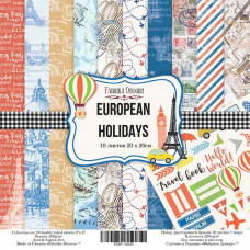 "НАБОР СКРАПБУМАГИ ""EUROPEAN HOLIDAYS"" 20X20СМ"
