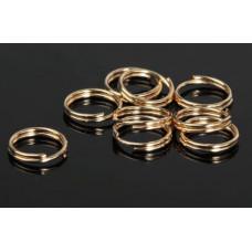 Кольцо соединительное двойное 0,9мм золото