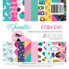"Набор бумаги для скрапбукинга ""Glitter Girl"" от  American Crafts"