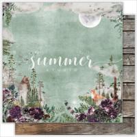 """ЛИСТ ДВУСТОРОННЕЙ БУМАГИ """"WILD FOREST""""от summer-studio"""