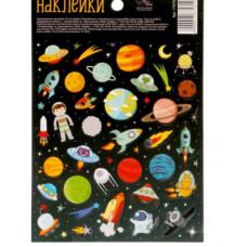 Бумажные наклейки «Космическое путешествие», 11 х 16 см