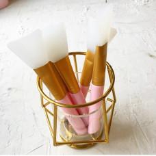 Кисточка силиконовая (для нанесения клея) - цвет розовый