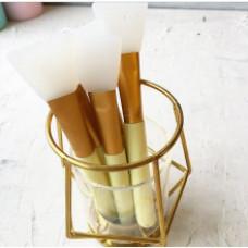 Кисточка силиконовая (для нанесения клея) - цвет желтый