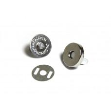 Кнопка магнитная - для хлястиков на планеры, блокноты и альбомы - серебро