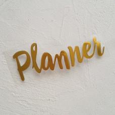 """Надпись из термотрансфера """"Planner """"3"""