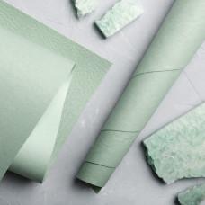 Переплётный кожзам  Мантуя (мятая кожа)-Авантюриновый зеленый  35*50