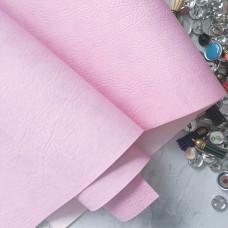 Переплётный кожзам  Мантуя (мятая кожа)- Лилово-розовый 35*50