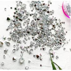 """Декоративные кристаллики """"Серебро"""" в баночке"""