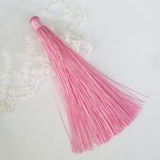Кисточка подвеска розовая 12 см
