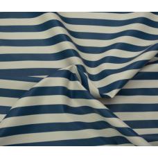 Кожзаменитель Бело-синяя полоска, 35х50 см