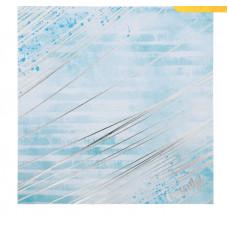 Бумага для скрапбукинга с фольгированием «Будь счастлив», 20 × 20 см