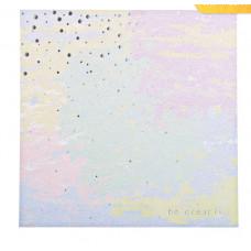 Бумага для скрапбукинга с фольгированием «Будь креативным», 20 х 20 см